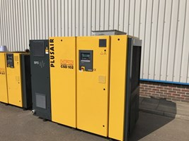 Plusair CSD 102, Plusair CSD 102 air compressor, air compressor, used air compressor, used air compressor machines